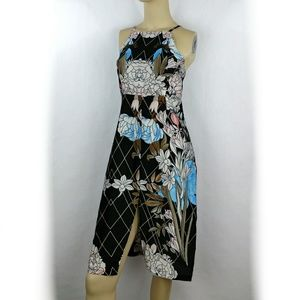 Smocked Strapless Cocktail Floral dress Medium